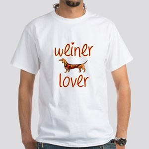 WEINER LOVER White T-Shirt