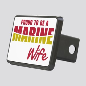 Proud Marine Wife Rectangular Hitch Cover