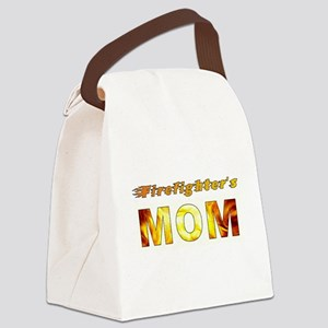 FIREFIGHTER'S MOM Canvas Lunch Bag