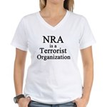 NRA Terrorist Women's V-Neck T-Shirt