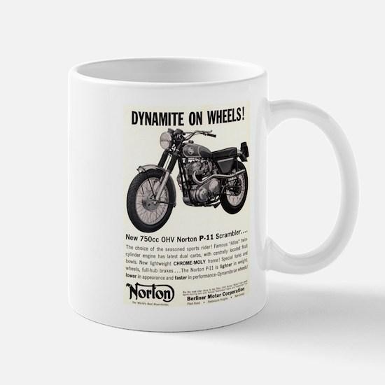 1967 Norton Dynamite Motorcycle P-11 Scrambler Mug