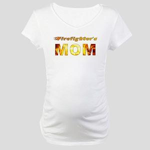 FIREFIGHTER'S MOM Maternity T-Shirt