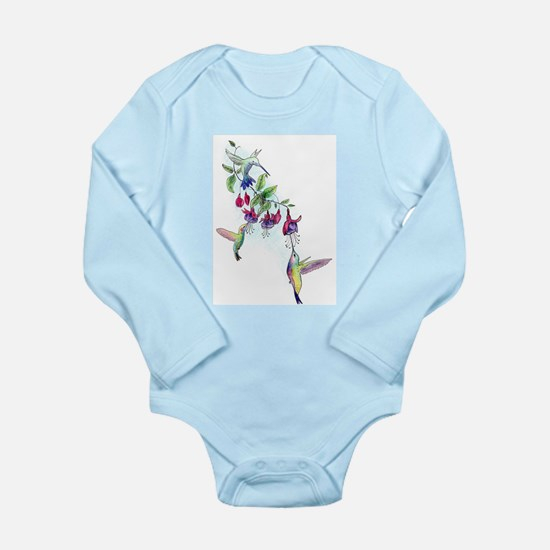 Hummingbird and Fuchsias Body Suit
