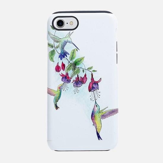Hummingbird and Fuchsias iPhone 7 Tough Case