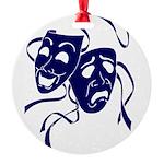 DWP Blue Logo Round Ornament