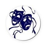 DWP Blue Logo Round Coaster
