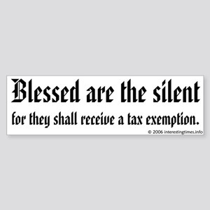 blessed are Bumper Sticker