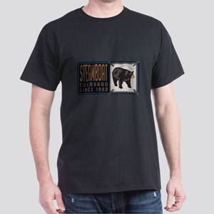 Steamboat Black Bear Badge Dark T-Shirt