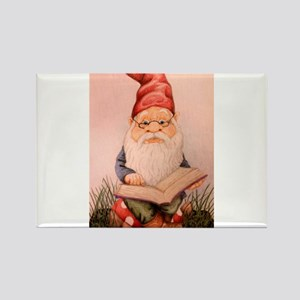 Literary Gnome Rectangle Magnet