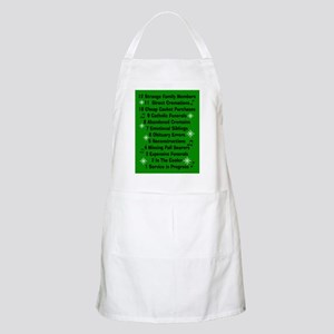 12 days if funeral home green Apron