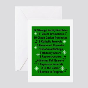 12 days if funeral home green Greeting Card