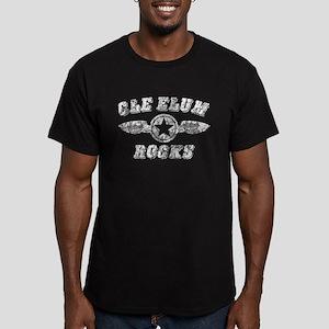CLE ELUM ROCKS Men's Fitted T-Shirt (dark)