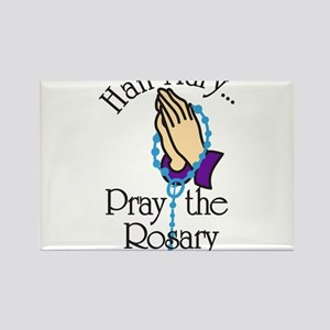 Pray The Rosary Rectangle Magnet