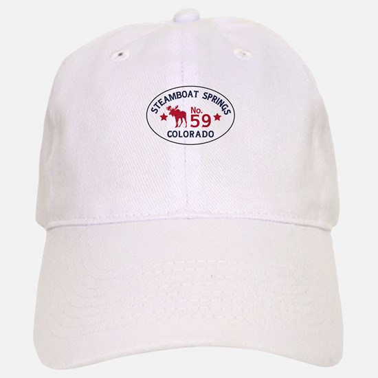 Steamboat Springs Moose Badge Baseball Baseball Cap