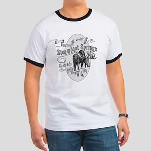 Steamboat Springs Vintage Moose Ringer T