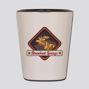 Steamboat Springs Pop-Moose Patch Shot Glass