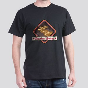 Steamboat Springs Pop-Moose Patch Dark T-Shirt