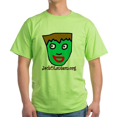 Green Frankenstein T-Shirt with Moon