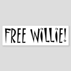 FREE WILLIE NELSON Bumper Sticker