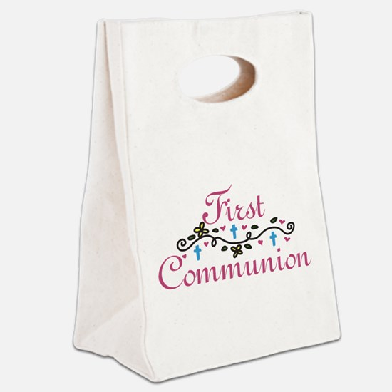First Commuinion Canvas Lunch Tote