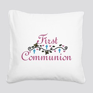 First Commuinion Square Canvas Pillow