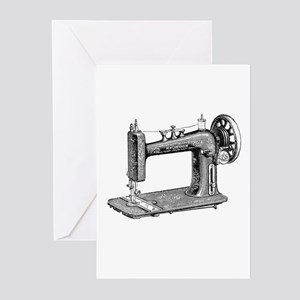 sewmachine Greeting Cards