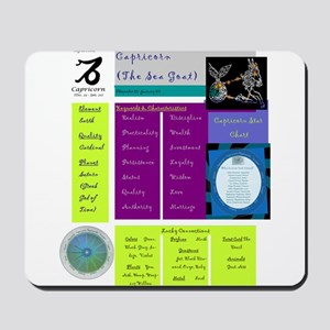 Capricorn Zodiac Sun Sign Analysis Mousepad
