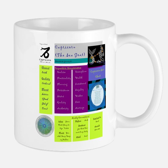Capricorn Zodiac Sun Sign Analysis Mug