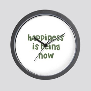 happiness is being now Wall Clock