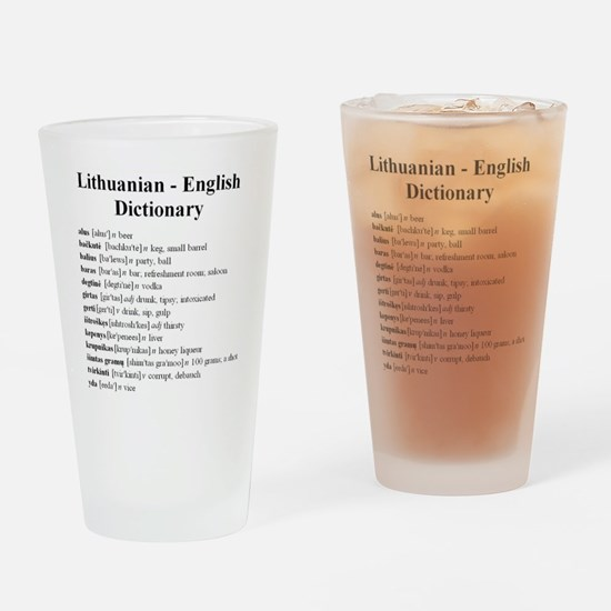 Cool Glossary Drinking Glass