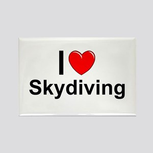 Skydiving Rectangle Magnet