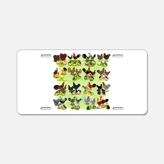 16 Chicken Families Aluminum License Plate