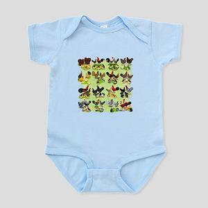 16 Chicken Families Infant Bodysuit