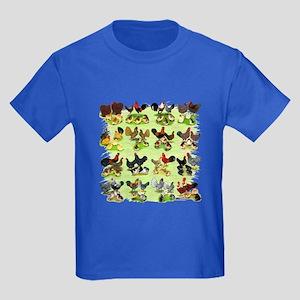 16 Chicken Families Kids Dark T-Shirt