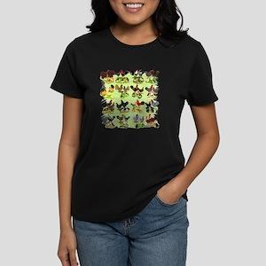 16 Chicken Families Women's Dark T-Shirt