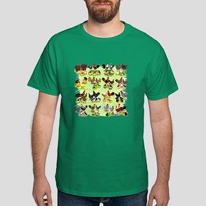 16 Chicken Families Dark T-Shirt