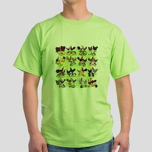 16 Chicken Families Green T-Shirt