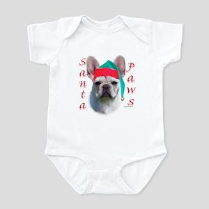 Santa Paws white French Bulldog Infant Bodysuit