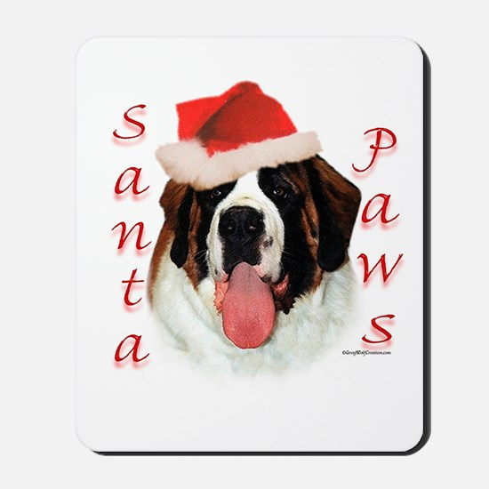 Santa Paws Saint Bernard Mousepad