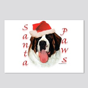 Santa Paws Saint Bernard Postcards (Package of 8)