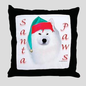 Santa Paws Samoyed Throw Pillow