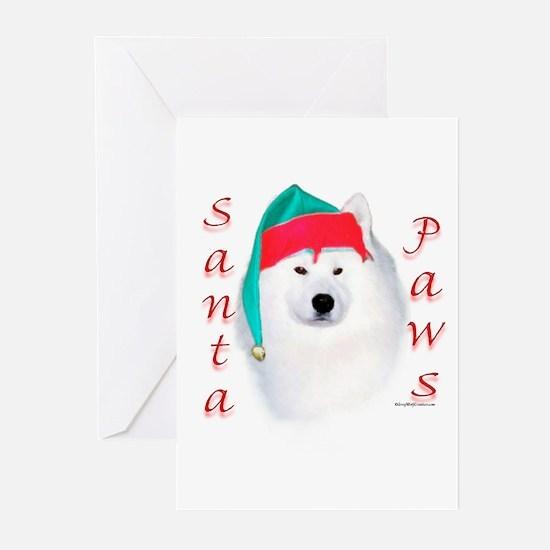 Santa Paws Samoyed Greeting Cards (Pk of 10)