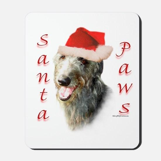 Santa Paws Scottish Deerhound Mousepad