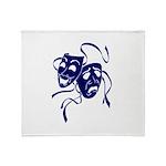DWP Blue Logo Throw Blanket