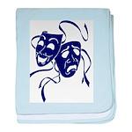 DWP Blue Logo baby blanket