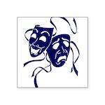 DWP Blue Logo Square Sticker 3