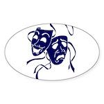 DWP Blue Logo Sticker (Oval 50 pk)