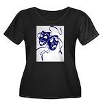 DWP Blue Logo Women's Plus Size Scoop Neck Dark T-