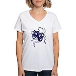 DWP Blue Logo Women's V-Neck T-Shirt
