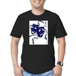 DWP Blue Logo Men's Fitted T-Shirt (dark)